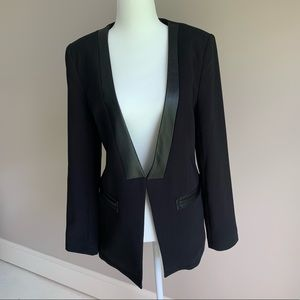 Robbi & Nikki Black Leather Trim Blazer Size 8